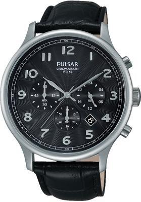 Pulsar Herrenarmbanduhr Chronograph PT3647X1 Leder 139