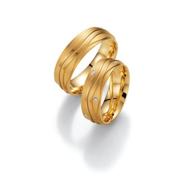 Ruesch Eheringe Gold mit Brillanten 02/40810-070
