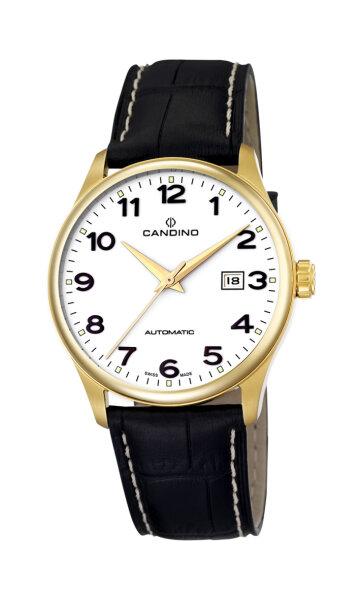Candino Herrenarmbanduhr Automatik Edelstahl vergoldet Saphirglas C4459/1 Klassik 429