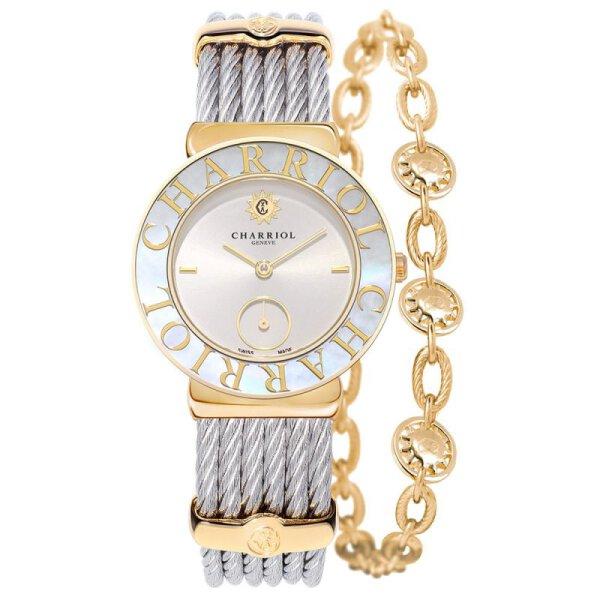 Charriol Damenarmbanduhr ST30YC.560.012 St. Tropez Edelstahl Bicolor vergoldet