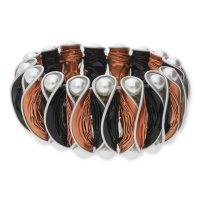 Modern Caps Design MCD01-55-1604 Armband Schwarz/Rosé