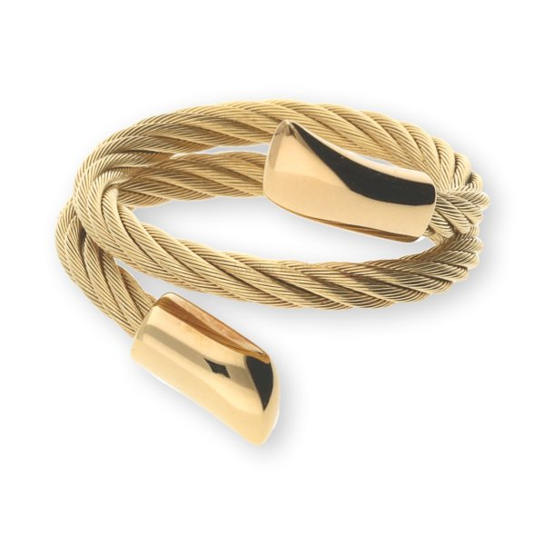 Charriol Ring 02111041-0 Edelstahl / Silber 925/000 vergoldet