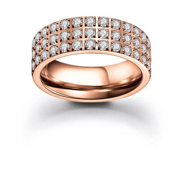 VIVENTY ETERNITY Damen Ring 300023 Edelstahl rosé vergoldet Zirkonia