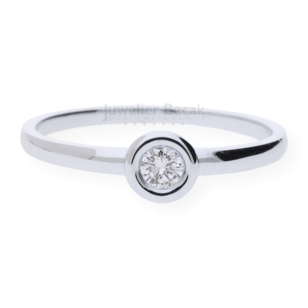 JuwelmaLux Ring 585/000 14 Karat Weißgold mit Brillant JL10-07-1863