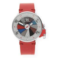 Rolf Cremer Quarz Edelstahl Armbanduhr 504704 Jump Lederband