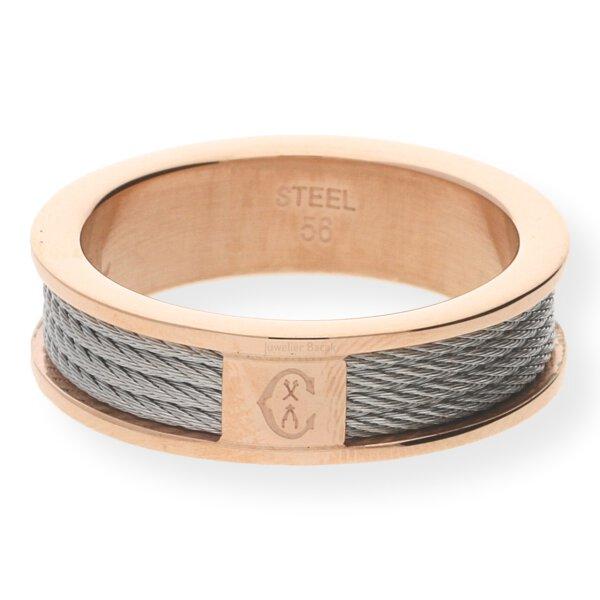 Charriol Ring Forever Edelstahl Bicolor rosé vergoldet 02-102-1139-8 56
