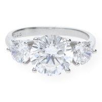 JuwelmaLux Ring 925er Sterling Silber rhodiniert synth. Zirkonia JL10-07-0983