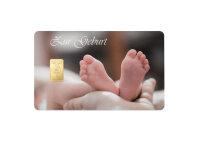 "Goldbarren Geschenkkarte ""Zur Geburt"" 1 Gramm..."