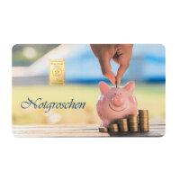 "Goldbarren Geschenkkarte ""Notgroschen"" 1 Gramm..."