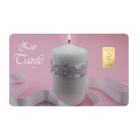 "Goldbarren Geschenkkarte ""Zur Taufe"" in rosa 1..."