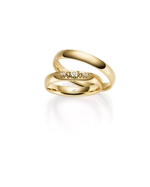 Gerstner Trauringe Gold mit Brillanten 4/31113/3,5 333/000