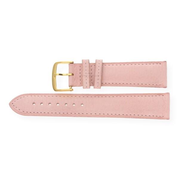 JuwelmaLux Uhrenband Bio Kalbleder rosa JL38-10-0034 goldfarben 20 mm