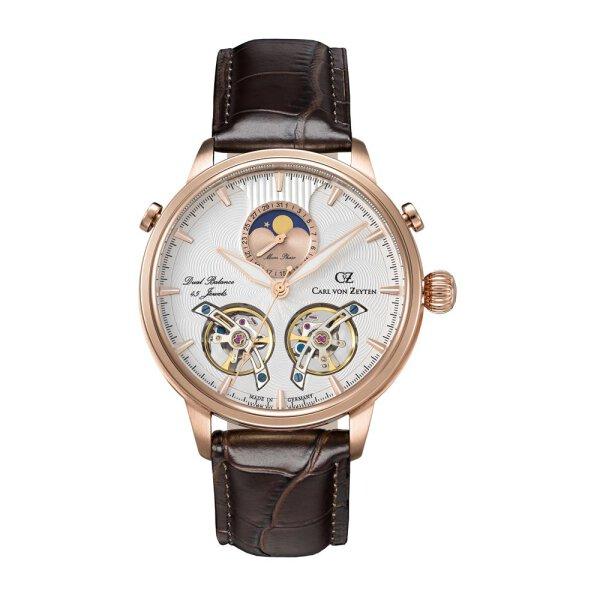 Carl von Zeyten Uhr für Herren CVZ0060RWH Durbach vergoldet Automatik