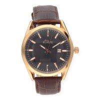 S.Oliver Uhr für Herren SO-2507-LQ Quarz Leder