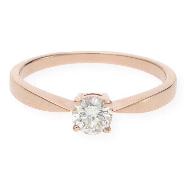 JuwlelmaLux Verlobungsring 585/000 (14 Karat) Rotgold mit Brillant 0,48 ct. JL30-07-0664