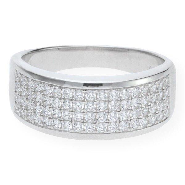 JuwelmaLux Ring 925er Sterling Silber mit synth. Zirkonia JL10-07-1236 60
