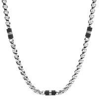 Fossil Herren Halskette JF03314040 Black Marble, Edelstahl
