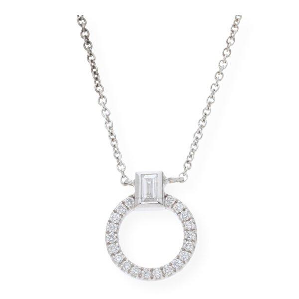 JuwelmaLux Collier Kreis 585er Weißgold 14 Karat mit Diamanten JL24-05-0042