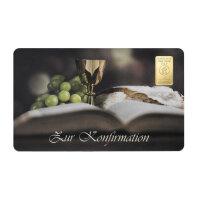 "Goldbarren Geschenkkarte ""Zur Konfirmation"" 1..."