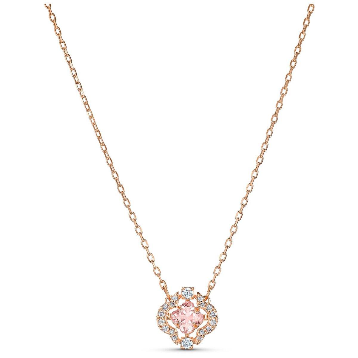 Swarovski Sparkling Dance Halskette, 5514488 Rosa, Rosé vergoldet