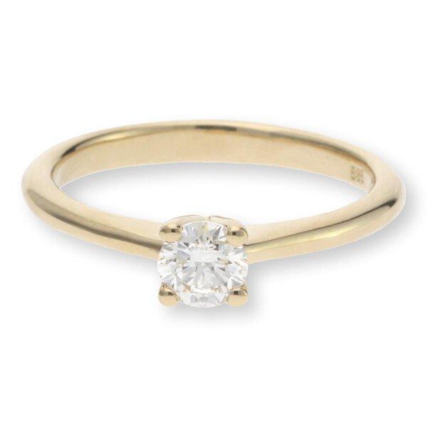JuwelmaLux Verlobungsring 585er Gelbgold 14 Karat mit Brillant JL10-07-1705