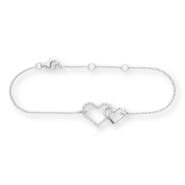JuwelmaLux Armband 925/000 Sterling Silber rhodiniert mit synth Zirkonia JL10-03-1729