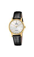 Festina Damen Uhr F20017/1 Swiss Made vergoldet