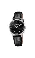 Festina Damen Uhr F20013/4 Swiss Made Leder schwarz