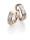 Ruesch Eheringe Palladium & Rotgold mit Brillanten 66/07090-065