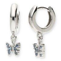 JuwelmaLux Creolen 925/000 Sterling Silber Schmetterling...
