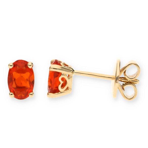 JuwelmaLux Ohrstecker 585/000 (14 Karat) Gold mit Feueropal JL10-06-1694