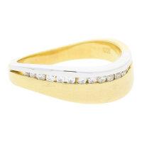 JuwelmaLux Ring 333/000 (8 Karat) Bicolor mit Zirkonia...