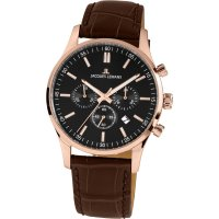 Jacques Lemans Herren Uhr 1-2025D Chronograph vergoldet