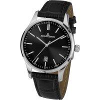 Jacques Lemans Herren Uhr 1-2026A Leder schwarz