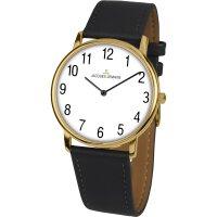 Jacques Lemans Damen Uhr 1-2004H Leder schwarz vergoldet