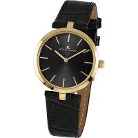 Jacques Lemans Damen Uhr 1-2024E Milano Leder schwarz...