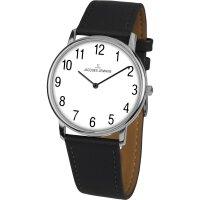 Jacques Lemans Damen Uhr 1-2004D Edelstahl Leder schwarz