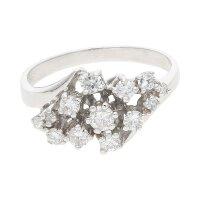 Ring 585/000 (14 Karat) Weißgold mit Brillanten...