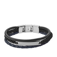 Fossil Herren Armband JF03186040 Vintage Casual...