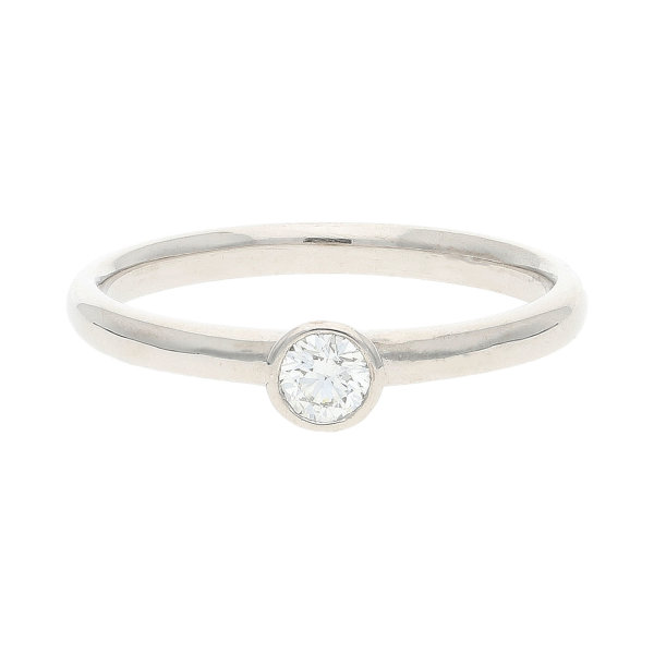 JuwelmaLux Verlobungsring 585/000 (14 Karat) Weißgold mit Brillant JL30-07-0980