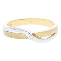 JuwelmaLux Ring 585/000 (14 Karat) Weiß- und...
