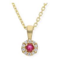 JuwelmaLux Anhänger 333/000 (8 Karat) Gold mit Rubin...