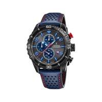 Festina Herren Uhr F20519/3 Chronograph Leder blau