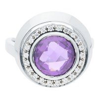 JuwelmaLux Ring 925/000 Sterling Silber mit Zirkonia...