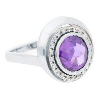 JuwelmaLux Ring 925/000 Sterling Silber mit Zirkonia JL30-07-1011