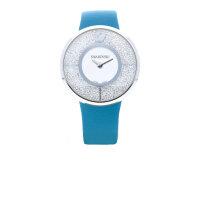 Swarovski Damen Uhr 5186452 Edelstahl mit blauen Lederband