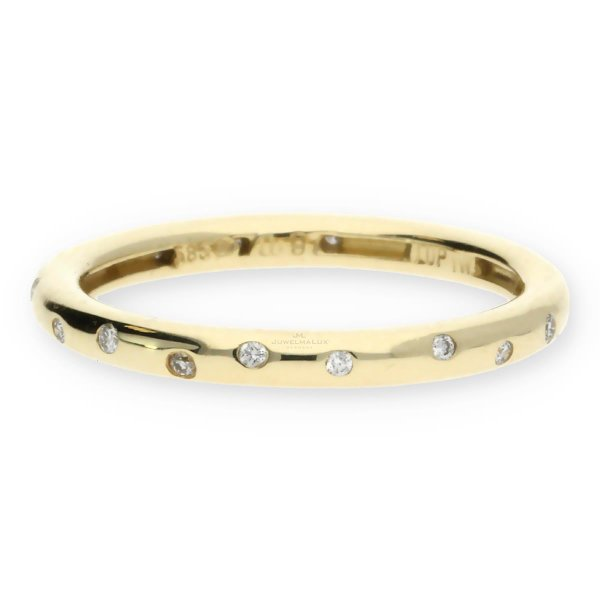JuwelmaLux Memory Ring 585/000 (14 Karat) Gelbgold mit Brillanten JL30-07-0815 57
