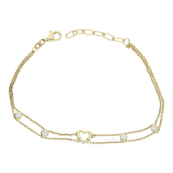 JuwelmaLux Armband 333/000 (8 Karat) Gold mit synth. Zirkonia JL39-03-0290