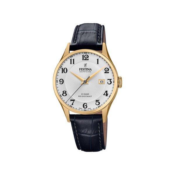 Festina Herren Uhr F20010/1 vergoldet mit Datumsanzeige
