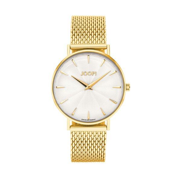 Joop! Damen Armbanduhr 2027243 Edelstahl, Milanaise, vergoldet